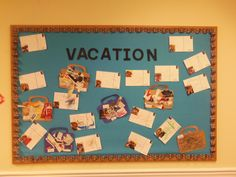 """Two part art activity for Travel Lesson Plan: First have children """"pack their bags"""" by gluing pictures from magazines of things they would pack in their bags for vacation. Second, on day two of the lesson have the children make """"post cards"""" to send home. Ask the children to write a few words telling their parents how the trip is going. Then take a cute piture of them in """"vacation clothes and glue the picture in a corner."""