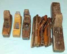 Online veilinghuis Catawiki: Kavel van 9 oude schaven -  nog te gebruiken om mee te werken