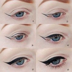 The most important part of the eye makeup is Eyeliner. It would not be wrong to say that eyeliner in fact complete the overall makeup looks. Diy Beauty Hacks, Beauty Hacks For Teens, Perfect Cat Eye, Perfect Eyeliner, Perfect Makeup, Amazing Makeup, Beauty Make-up, Hair Beauty, Beauty Stuff