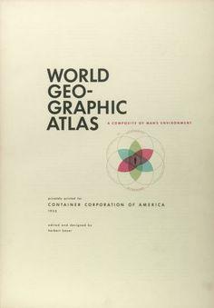 Herbert Bayer | Atlas Geográfico Mundial 1952