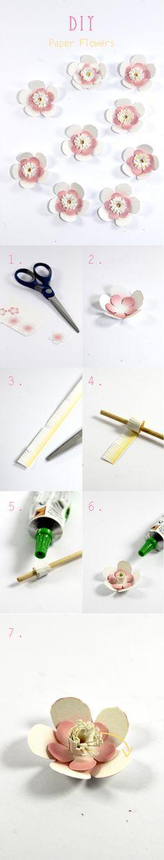 """DIY fleur en papier avec comme d'habitude """"dans mon bocal"""" pdf pour impression des fleurs gratuit paper flower free pdf"""