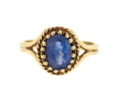 14k Gold Sapphire Ring Featured in our upcoming auction on March 16!