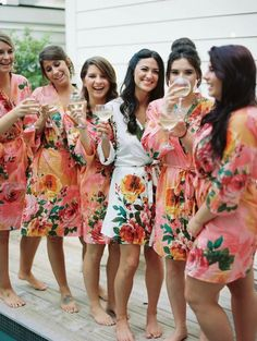 Raise a glass and cheers with your bridal party.