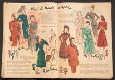 'ECHO DE LA MODE' FRENCH VINTAGE NEWSPAPER 5 OCTOBER 1947 | eBay