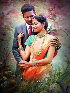 photoshop painting Charcoal Art, Woman Painting, Mona Lisa, Sari, Photoshop, Digital Paintings, Couples, Artwork, Sketch