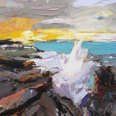 "Every day, every #sunrise is different... ""Rocks at Kiama"", 35X45cm, oil on board #rocks #Kiama #artoftheday #creative #inspiration #australian"