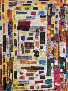 These remarkable quilts are made by Siddi women of India who are part of the African diaspora. Ref. Nahtzugabe blog