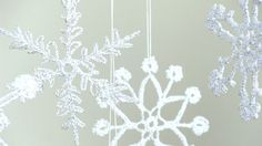 6 Lace Crochet snowflakes christmas decoration ornament by zolayka, $20.00