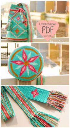 Drawstring bag crochet pattern. Tapestry crochet bag pattern. Backpack crochet pattern. Tapestry crochet.