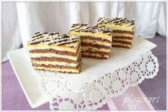Prajitura cu nuca de cocos si crema de vanilie | Pleziruri Cake Recipes, Dessert Recipes, Food Cakes, Waffles, Diy And Crafts, Deserts, Food And Drink, Sweets, Bread