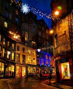 Edinburgh Grassmarket. Scotland Photograph ,Steeples, street Scene Canvas £25.00