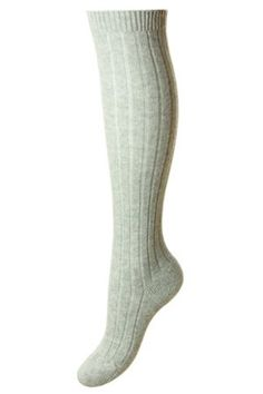 Campbell's of Beauly - Tabitha Long Cashmere Sock Grey Ladies Socks, Cashmere Socks, Tweed, Colours, Lady, Women, Fashion, Moda, Fashion Styles