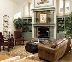 Great Room of The Derbyville - House Plan Number 1032