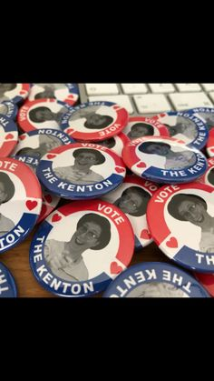 """Promotional """"Vote The Kenton"""" #badges ... not sure what you're voting for, but he seems like a nice chap anyway"""