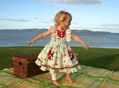 SALE...Buy 2 get 1 free..Ruthie's Picnic Dress by FooFooThreads, $7.75