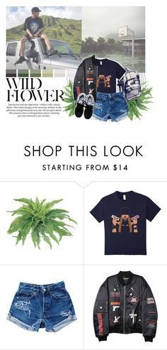 """""""Chanyeol: Love The Way You Lie"""" by supremebts ❤ liked on Polyvore featuring H&M, Levi's, Hyein Seo, New Balance, cute, kpop, EXO, chanyeol and Ulzzang"""