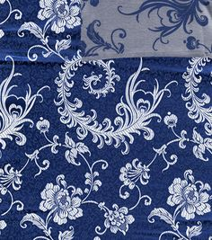 Brocade Fabric- Royal Silver Peony Scroll : special occasion fabric : apparel fabric : fabric :  Shop | Joann.com