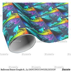 Ballroom Dance Couple Stage Lights And Music Gift Wrapping Paper