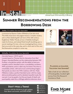 Summer Recommendations from the Borrowing Desk  #71 2015