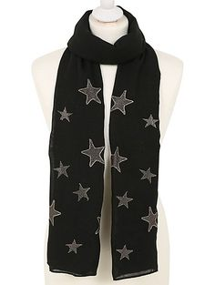 When it comes to lightweight scarves to wrap up in on cold days and breezy nights, making sure they're stylish is key. This star print design ticks all the b...