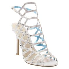 Women's Vienna Cage Front Dress Sandals Soft Silver 8.5 - Tevolio