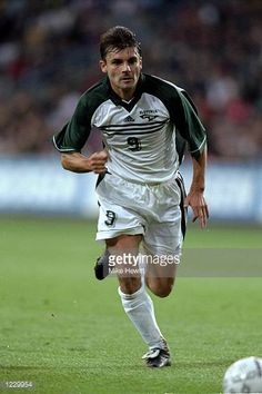 Saso Udovic of Slovenia in action against Norway during the European Championship qualifier at the Ullevaal Stadium in Oslo Norway Norway won 40...