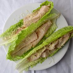 Caesar -- quick, easy lunch or snack for when you have no time -- or when you need to make up for yesterday's pig-out. Easily swap processed turkey for seasoned and shredded chicken breast! No Carb Snacks, No Carb Recipes, Low Carb Lunch, Low Carb Diet, Lunch Recipes, Diet Recipes, Healthy Snacks, Healthy Eating, Cooking Recipes
