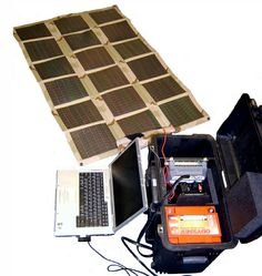 A plug and play case that powers an electrical circuit with an unfolding array of solar panels. Pretty cool in my book. More gadgets from South-Pak