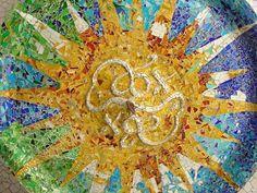 gaudi artwork   Picture of Gaudi art in Park Güell, Barcelona   Barcelona   Spain