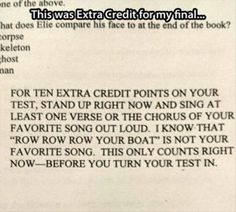 Haha I wish that this could just happen for my bio exam tomorrow!