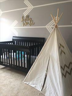 Tribal-Boho inspired nursery for baby girl Teepee tent
