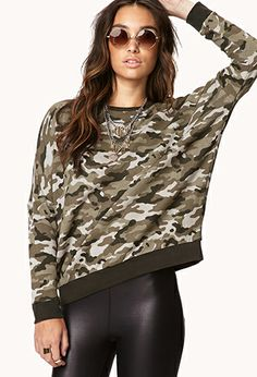 Sporty Camo Sweatshirt | FOREVER21 - 2073316521  into camo lately for some reason..