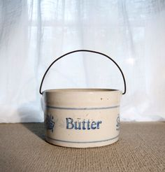 antique stoneware butter crock by nycgypsy on Etsy
