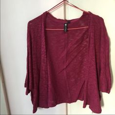 Cotton on maroon droopy cardigan Super cute maroon cardigan. Very loose but fits well on the body. Soft cotton material Cotton On Sweaters Cardigans