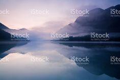 morning at lake plansee royalty-free stock photo