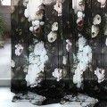 Dark Floral on Silk Charmeuse Sample - by Ellie Cashman Design