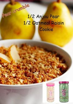 """Pink Zebra Home Fragrance Sprinkle """"recipe"""" Pear Crumble ; want your house to smell like you are baking a fresh Pear Crumble in your oven? Just put Anjou Pear and Oatmeal Raisin Cookie Sprinkles in your warmer and you will be drooling in no time! Order yours here.      pinkzebra_jeanne@yahoo.com"""