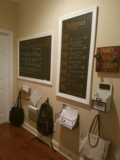 Our family command center is complete! Love the way it turned out!! #loveorganization #homecommandcenter #complete