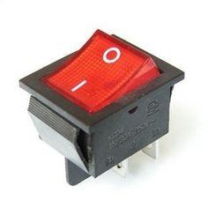 2 Unids/lote Rojo 4 Pin Luz On/off Boat Interruptor de Botón de 250 V 15A AC AMP 125 V/20A T1406 P0.5