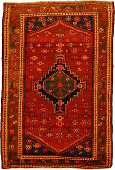 Red 10 x 1 Hamedan Persian Runner Rug