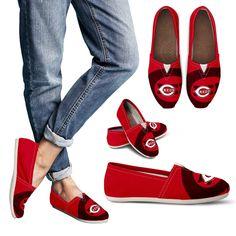 Enormous Logo Mix Tiny Logo Fantastic Cincinnati Reds Casual Shoes – Best Funny Store