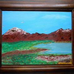 Montañas #paleont #arte #óleo #cuadroartistico #pintura #méxico #dinosaurod #art…