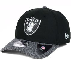676274c21aa Oakland Raiders New Era 39Thirty NFL Draft Reverse M L Flexfit Fitted Cap  Hat