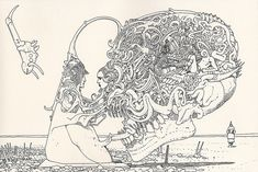 Jean Giraud (Moebius) was a French comic artist & illustrator. Moebius was one of the great creative minds of the last generation. Jean Giraud, Comic Book Artists, Comic Artist, Moebius Artist, Illustrations, Illustration Art, Fondation Cartier, Western Comics, Comic Kunst