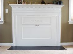 Fun DIY Chalkboard And Magnetic Fireplace Cover On The