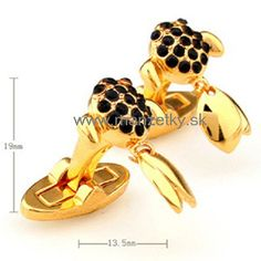www.manzetky.sk Black Crystals, Miller Sandal, Tory Burch, Cufflinks, Sandals, Luxury, Classic, Gold, Accessories