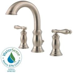 perfect reviews: Pfister Hanover 8 in. Widespread 2-Handle High-Arc Bathroom Faucet in Brushed Nickel-F-049-TMKK at The Home Depot