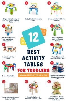 We have compiled a list of the 12 best toddler activity tables that came highly recommended by parents and showed no review manipulation. It is important for us to ensure that each activity table on this list is one of the best and promotes learning and helps them with various developmental skills. Each of these tables is designed for both boys and girls of toddler age and they are all made from high-quality, non-toxic materials for safety. Best Toddler Toys, Toddler Age, Best Kids Toys, Table Activities For Toddlers, Learning Activities, Activity Tables, Cool Toys For Boys, Best Educational Toys, Toys For 1 Year Old