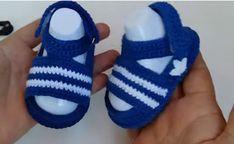 Crochet Adidas Baby Sandals - We Love Crochet