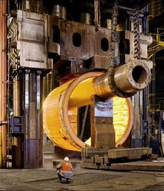 This is what a nuclear reactor being made in a forge looks like.